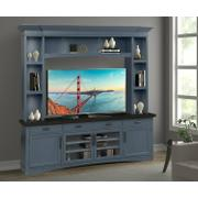 AMERICANA MODERN - DENIM 92 in. TV Console with Hutch and LED Lights Product Image