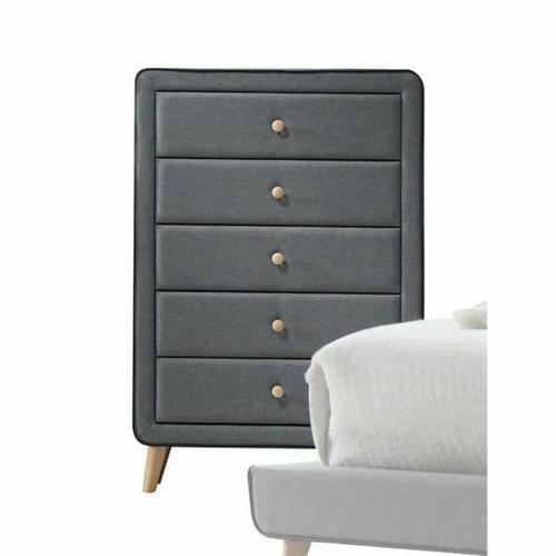 ACME Valda Chest - 24526 - Light Gray Fabric