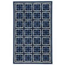 Square Trellis Navy - Rectangle - 5' x 8'
