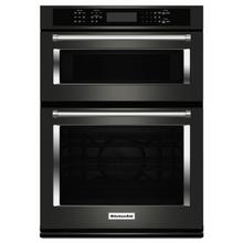 """See Details - 30"""" Combination Wall Oven with Even-Heat™ True Convection (Lower Oven) - Black Stainless Steel with PrintShield™ Finish"""