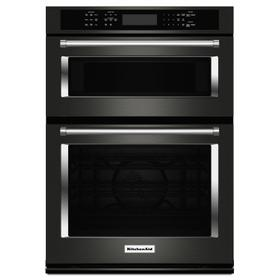 """30"""" Combination Wall Oven with Even-Heat™ True Convection (Lower Oven) - Black Stainless Steel with PrintShield™ Finish"""