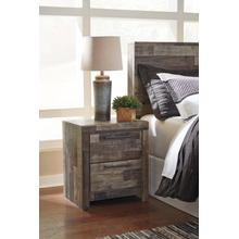 Derekson Two Drawer Night Stand Multi Gray