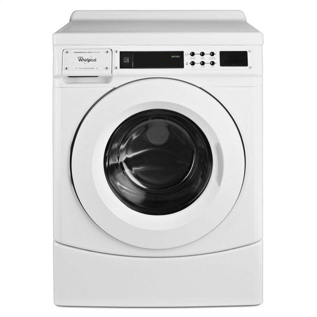 """Whirlpool 27"""" Commercial High-Efficiency Energy Star-Qualified Front-Load Washer, Non-Vend White"""