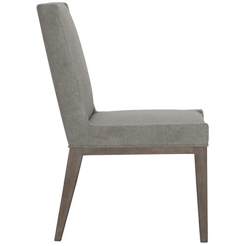 Linea Upholstered Side Chair in Cerused Charcoal (384)