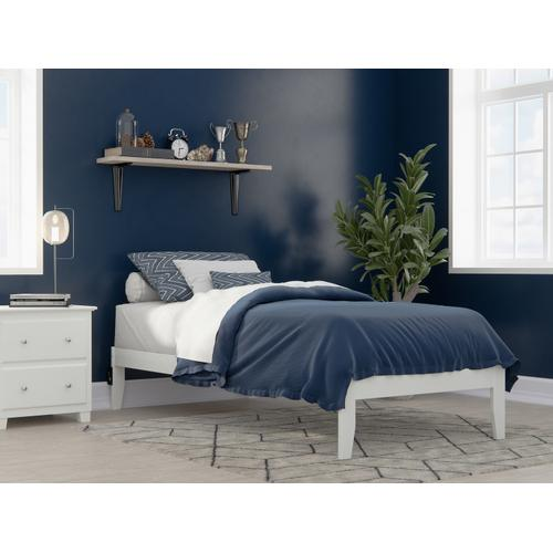 Atlantic Furniture - Colorado Twin Extra Long Bed with USB Turbo Charger in White
