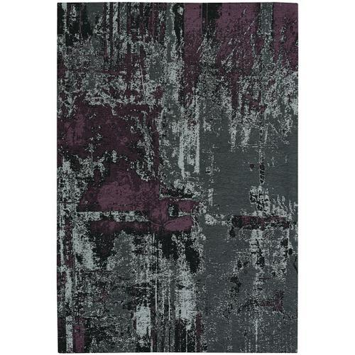 Cosmic-Abstract Grey Purple Hand Loomed Area Rugs