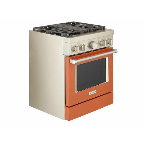 KitchenAid Canada - KitchenAid® 30'' Smart Commercial-Style Dual Fuel Range with 4 Burners - Scorched Orange