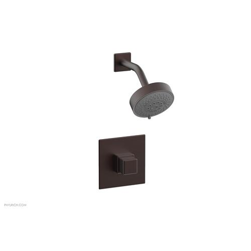 MIX Pressure Balance Shower Set - Cube Handle 290-24 - Weathered Copper