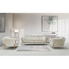 Product Image - Divani Casa Stella - Transitional Beige Velvet Sofa Set