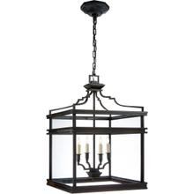 E. F. Chapman Mykonos 4 Light 17 inch Aged Iron Foyer Pendant Ceiling Light