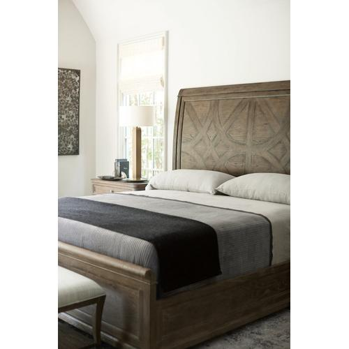 California King Rustic Patina Panel Bed in Peppercorn (387)