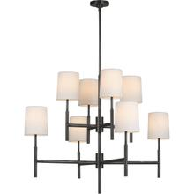 Barbara Barry Clarion LED 37 inch Bronze Two Tier Chandelier Ceiling Light, Large