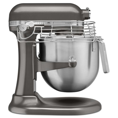 NSF Certified® Commercial Series 8 Quart Bowl-Lift Stand Mixer with Stainless Steel Bowl Guard Dark Pewter