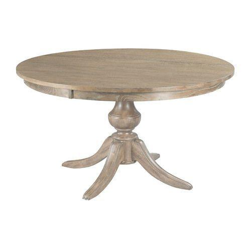 "The Nook Heathered Oak 54"" Round Dining Table Complete"