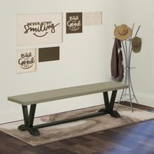 15x72 in Dining Bench with Wirebrushed Black Leg and Cement Top finish