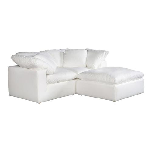 Moe's Home Collection - Clay Nook Modular Sectional Livesmart Fabric White