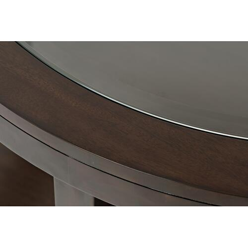 Urban Icon Round Castered Cocktal Table-merlot