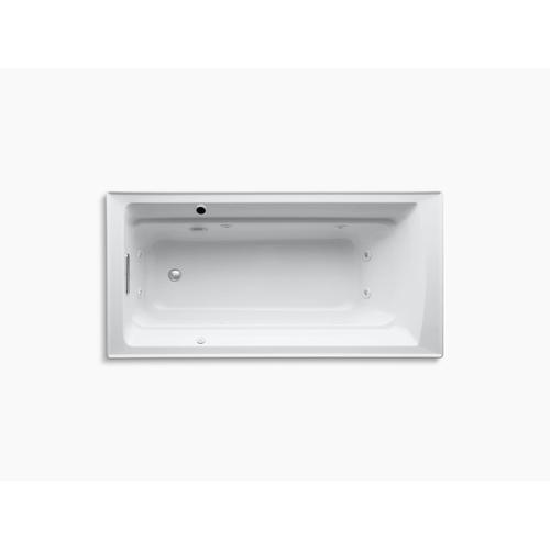"Ice Grey 72"" X 36"" Drop-in Whirlpool Bath With Reversible Drain and Bask Heated Surface"