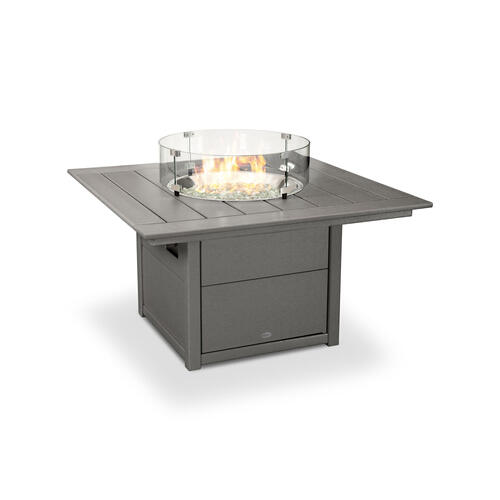 "Mahogany Square 42"" Fire Pit Table"