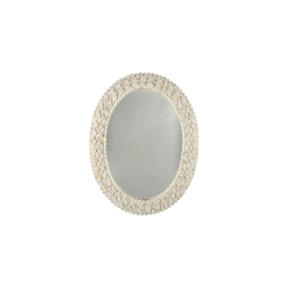 Ah, Divine Details! Our Heather Mirror Is A Delight From Both Near and Far. You'll Love the Versatile Oval Shape and Layer After Layer of Circular Bone Pieces That Bring Depth and Dimension To This Neutral and Timeless Accessory.