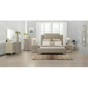 ACME Kordal Queen Bed - 27200Q - Vintage Beige PU
