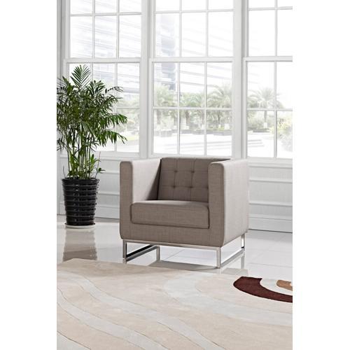 VIG Furniture - Divani Casa Dominic Modern Grey Fabric Lounge Chair