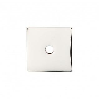 Square Backplate 1 Inch - Polished Nickel