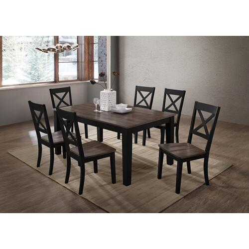 5058 ALACARTE: Black Rectangular Table & 4 Dining Chairs