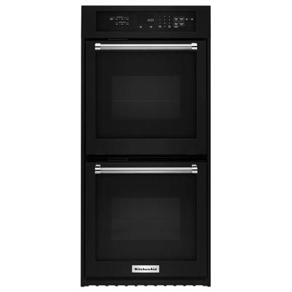 """24"""" Double Wall Oven with True Convection Black"""