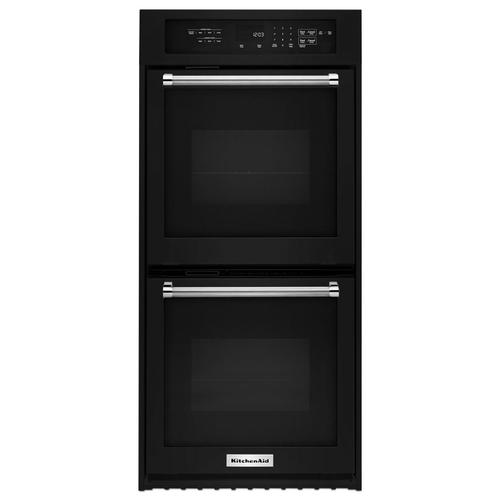 "24"" Double Wall Oven with True Convection Black"