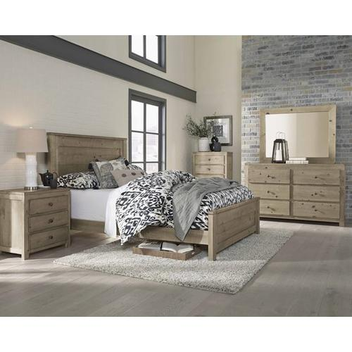 5/0 Queen Panel Bed - Natural Finish