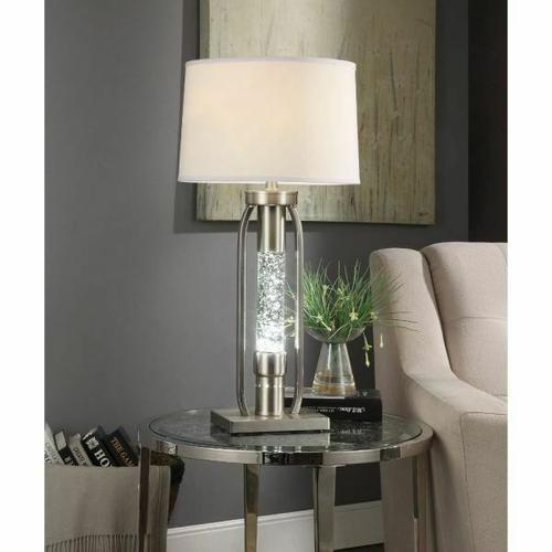 ACME Sinkler Table Lamp - 40149 - Sandy Nickel