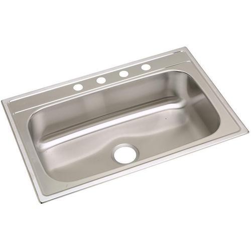"Elkay Stainless Steel 33"" x 22"" x 8-1/4"", Single Bowl Drop-in Sink"