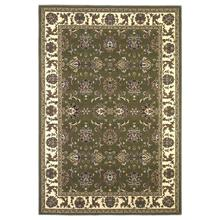 "Cambridge 7314 Green/ivory Kashan 5'3"" X 7'7"""