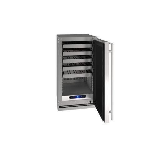 "18"" Wine Refrigerator With Stainless Solid Finish (115 V/60 Hz Volts /60 Hz Hz)"
