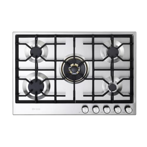 "Verona 30"" Designer Gas Cooktop-Brass Burners SS"