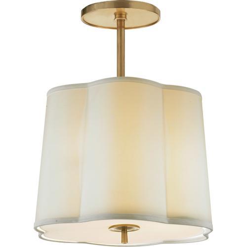 Barbara Barry Simple 3 Light 16 inch Soft Brass Hanging Shade Ceiling Light