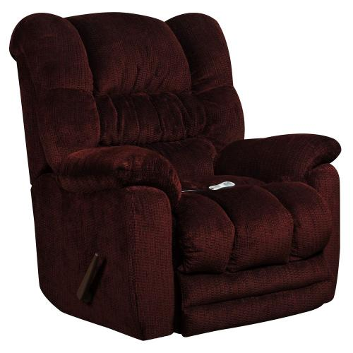 Massaging Temptation Merlot Microfiber Rocker Recliner with Heat Control