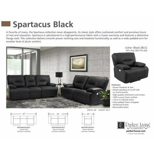 SPARTACUS - BLACK Power Loveseat