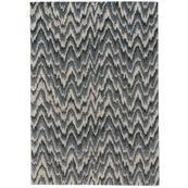 "Mineral-Flamestitch Blue Slate - Rectangle - 3'11"" x 5'6"""