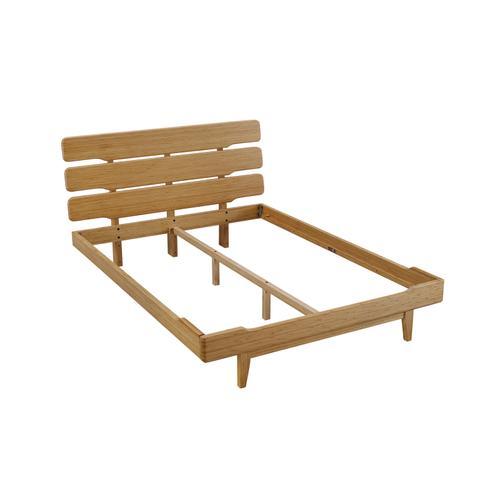 Greenington Fine Bamboo Furniture - Currant Eastern King Platform Bed, Caramelized