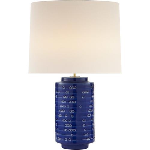 AERIN Darina 31 inch 100 watt Pebbled Blue Table Lamp Portable Light, Large