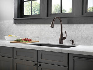 Venetian Bronze Single Handle Pull-Down Kitchen Faucet with Touch 2 O ® and ShieldSpray ® Technologies Product Image