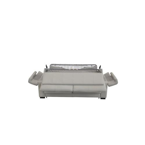 VIG Furniture - Estro Salotti Spock Italian Modern Light Grey Leather Sofa Bed