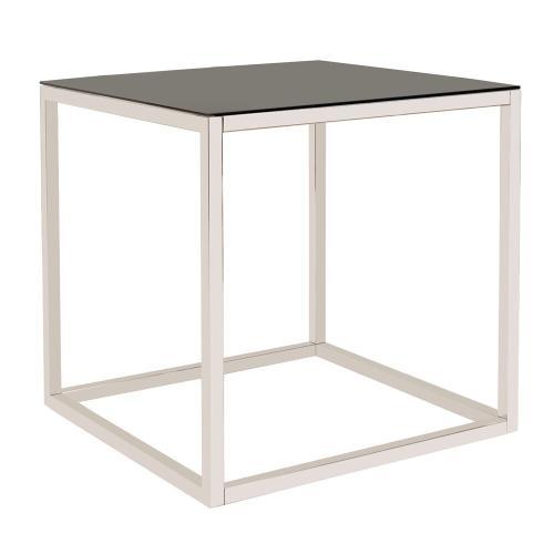 Howard Elliott - Square Stainless Steel Side Table - Black