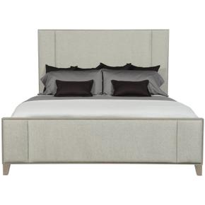 King Linea Upholstered Panel Bed in Cerused Greige (384)