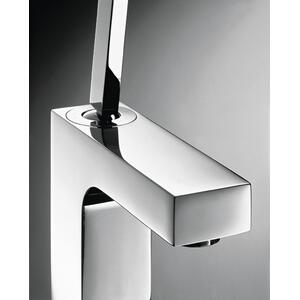 Chrome Single lever basin mixer 110 with pin handle and pop-up waste set
