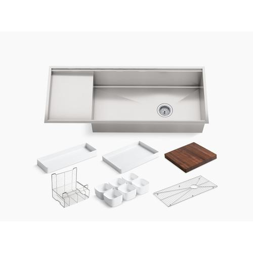 """45"""" X 18-1/2"""" X 9-13/16"""" Undermount Single-bowl Kitchen Sink With Wet Surface Area"""