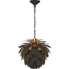 View Product - E. F. Chapman Cynara 1 Light 17 inch Matte Black and Gild Chandelier Ceiling Light, Small