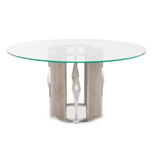 Amini - Round 60 Glass Dining Table (2 Pc)